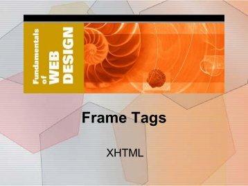 9. Frame Tags - Elktech.org