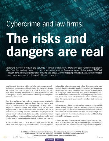 Cybercrime and law