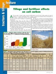 Tillage and fertiliser effects on soil carbon - Greenmount Press