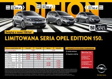 Opel - Limitowana seria Opel Edition 150 - Dixi-Car - Opel Dixi-Car