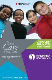 is local Care - Sendero Health Plans