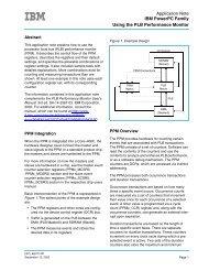 Application Note IBM PowerPC Family Using the PLB Performance ...