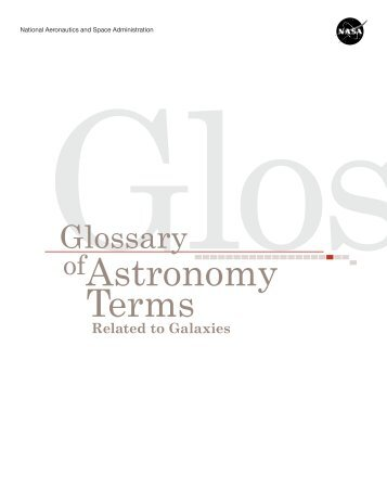 Glossary of Astronomy Terms Related to Galaxies - Amazing Space