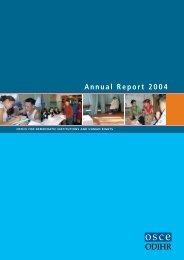 OSCE/ODIHR Annual Report 2004
