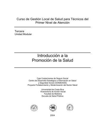 Introducción a la Promoción de la Salud - BVSDE