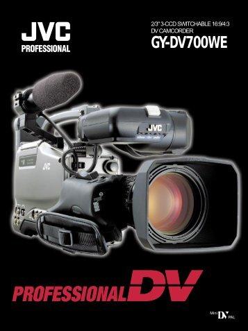 GY-DV700WE controls, indicators and connectors - Creative Video