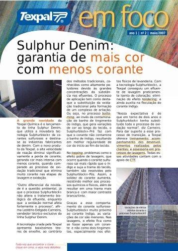Sulphur Denim: garantia de mais cor com menos corante - Texpal