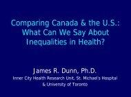 Metropolitan and Neighbourhood Inequalities in Health