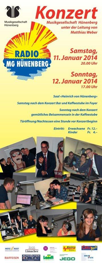 Download Konzertprogramm (pdf, 2 MiB) - MG Huenenberg