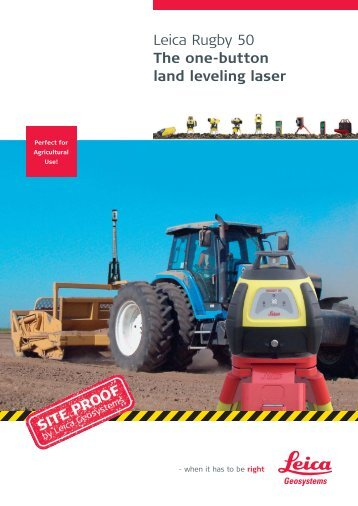 Leica Rugby 50 - The one-button land leveling laser (PDF, 544.21 KB)
