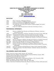 joel beinin director of middle east studies - The American University ...