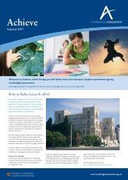 Achieve - Cambridge Assessment