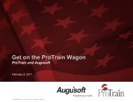 Overview of Original Program - Augusoft