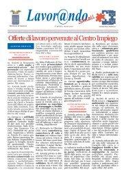 Offerte di lavoro pervenute al Centro Impiego - Comune di Saluggia