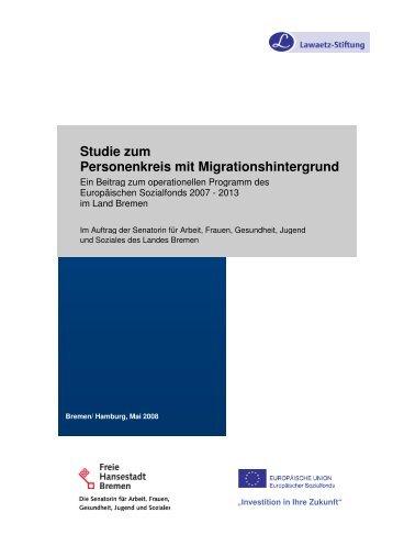 Studie Migrationshintergrund - (ESF) im Land Bremen