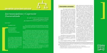 Gobernabilidad y fortalecimiento institucional Intermunicipalismo y ...