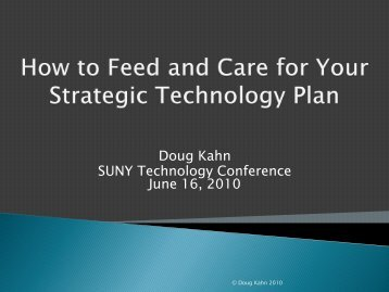 How to Feed and Care for Your Strategic Plan - The SUNY ...