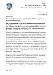 Pressemitteilung 18.07.2012 Anrainer von Werra und Weser ...