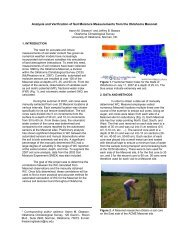 Analysis and Verification of Soil Moisture Measurements from the ...