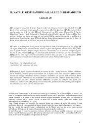 IL NATALE: GESÙ BAMBINO ALLA LUCE DI GESÙ ADULTO Luca 2 ...