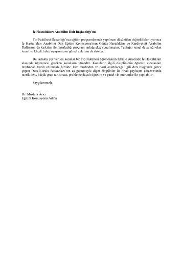 İç Hastalıkları Ana Bilim Dalı - Hacettepe Üniversitesi Tıp Fakültesi