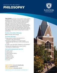 PHILOSOPHY - Xavier University