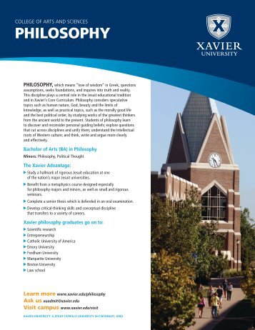 PHILOSOPHY - Xavier University