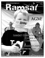 September newsletter - Ramsay Community Association in Calgary