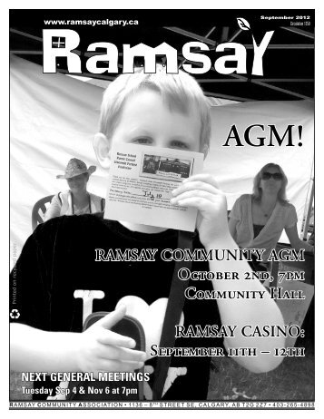 September newsletter - Ramsay Community Association in Calgary