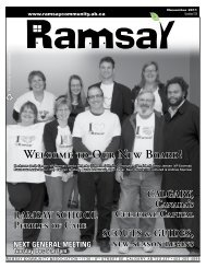 November 2011 - Ramsay Community Association