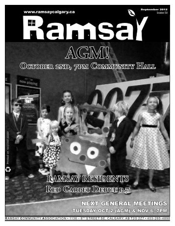October newsletter - Ramsay Community Association in Calgary
