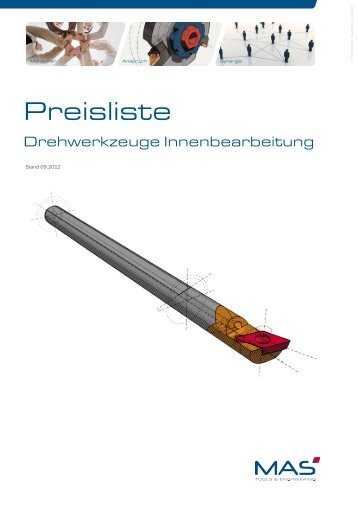 Drehkatalog Preisliste - MAS Tools & Engineering