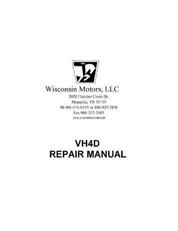 Wisconsin Thd Repair Manual Robin Engines