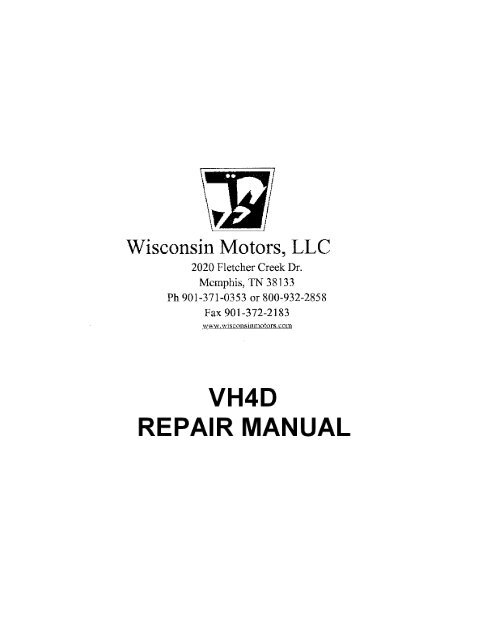 36 Repair VH4D Wisconsin Motors