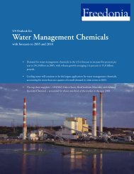 Water Management Chemicals - The Freedonia Group