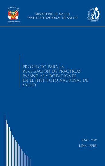 prospecto para la realización de prácticas pasantías y rotaciones en ...