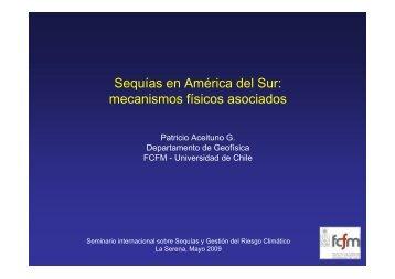 Sequías en América del Sur: mecanismos físicos asociados - cazalac