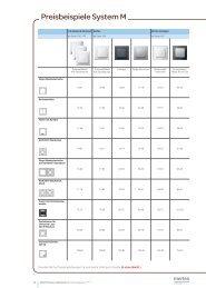 Preisbeispiele System M - Merten