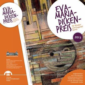 Flyer zum Dicken-Preis 2013 - Schloss Friedenstein
