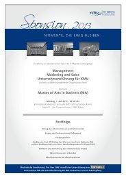 Management Marketing and Sales Unternehmensführung für KMU