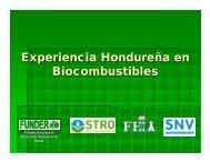 Experiencia Hondureña en Biocombustibles