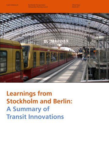 Learnings from Stockholm and Berlin - Metropolitan Planning Council