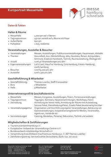 Kurzportrait MesseHalle - MesseHalle Hamburg-Schnelsen