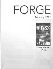 February 2012 Tor / Forge Mass Market Catalogue - Raincoast Books