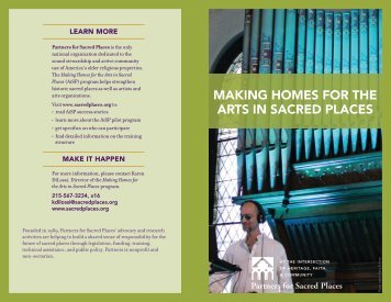 Download the AiSP brochure. - Partners for Sacred Places