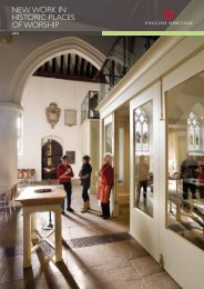 NEW WORK IN HISTORIC PLACES OF WORSHIP - English Heritage