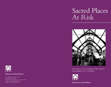Sacred Places At Risk - Partners for Sacred Places