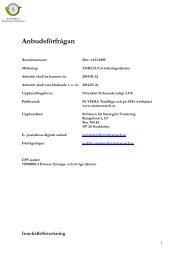 SSF - Anbudsförfrågan, utvärderingstjänster - Stiftelsen för ...
