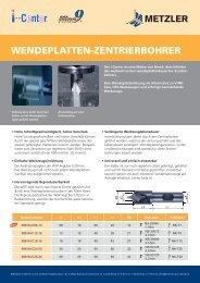 WENDEPLATTEN-ZENTRIERBOHRER - Metzler