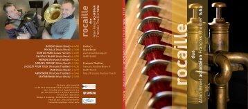 Télécharger le fichier PDF du livret Rocaille - Feeling Musique